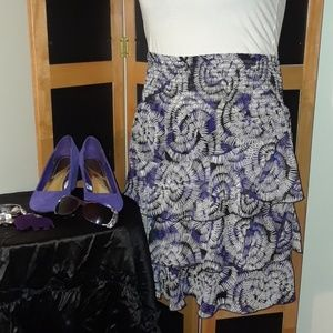 TAKE 1/2 OFF FASHION BUG Lady's Flowy 3 Tier Skirt
